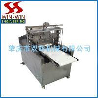 厂家直销海鲜冻鱼肉斜切机 45度斜切鱼肉机