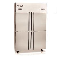 格林四门冰箱 不锈钢四门冷柜 双机双温冰箱