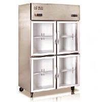 格林四门展示柜 四玻璃门冷藏展示柜