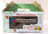 烟台草莓盒、烟台草莓包装盒、烟台草莓瓦楞盒