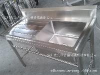批发不锈钢单槽沥水槽、单星带平台池、洗菜