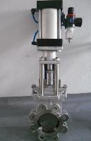 PZ673H/X气动不锈钢刀闸阀、对夹式刀型闸阀