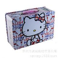 铁盒厂定制长方形手提带锁马口铁盒 饼干糖果零食包装盒
