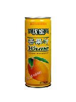 优蜜芒果汁240ml罐装