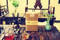 茯茶世家泾阳茯砖茶礼品纸盒500克配手提袋包物流可退换货