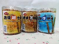 新品推荐台湾婴童饼干馔宇香浓牛奶棒、好吃起士棒、芝麻棒