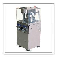 圆型奶钙片压片机-旋转式中药粉末压片机图片