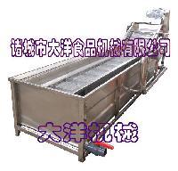全自动网带输送式洗菜机,专业的水果清洗机