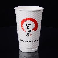 一次性加厚双层纸杯16oz500毫升咖啡杯厂家定制批发