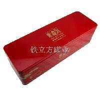 制罐厂定做 高档长方形内塞盖茶叶铁盒