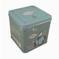 厂家定制 马口铁正方形茶叶罐 糖果零食小食品铁盒