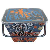厂家定做 梯形手提铁盒 创意异形糖果铁罐