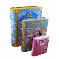 外销定做 糖果盒 书本铁盒 大中小套装字典铁盒