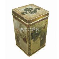 铁盒厂 定做高端正方形花茶叶铁罐 零食铁盒