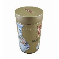 铁盒工厂 定做高档圆形易拉盖拍盖茶叶铁罐
