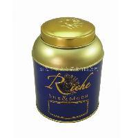 小盖圆形茶叶罐 干果零食糖果铁盒