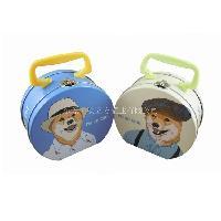 卡通异形扇形半圆形糖果铁盒包装 手挽铁罐