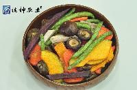 祺神菇菜干果蔬干脆片即食密封绿色健康休闲零食菇菜干批发