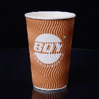 厂家批发16OZ双层加厚纸杯一次性咖啡杯定制