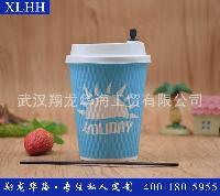 厂家直供一次性加厚钻石纸杯/咖啡杯 可设计logo 可配盖 吸管7