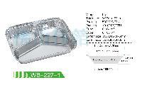 批发一次性铝箔三格快餐打包盒 750ml
