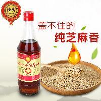 沙沟小磨香油芝麻油特产小磨油调味油火锅香油380ml优质石磨油