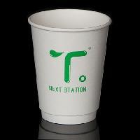 一次性加厚纸杯12OZ中空杯批发定制
