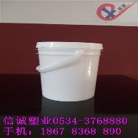 3L塑料桶,塑料提全新料敞口圆桶防盗密封盖