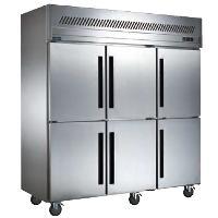 贝柯六门冰箱BCD1.6L6 不锈钢六门双温冰柜