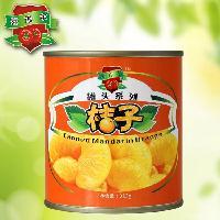 罐头厂家直供  糖水桔子橘子罐头  245*6瓶