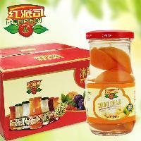 罐头厂家直销245g礼盒装糖水杏罐头 出口品