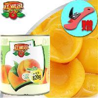 烘焙餐饮专用大包装铁罐820g黄桃罐头 出口