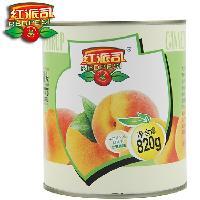 红派司新鲜水果罐头245g*6玻璃瓶白桃罐头