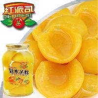 厂家直销黄桃罐头680g×12瓶 超市专用