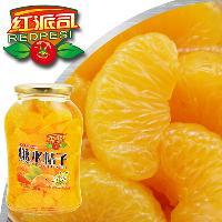 橘子罐头厂家批发680g×12瓶大瓶糖水