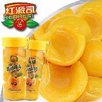 超市*玻璃杯罐头450g×12瓶黄桃罐