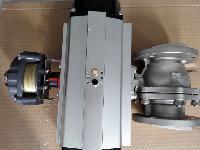 氨用气动切断阀,气动V型调节球阀