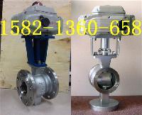 QV977H-16C、VQ977H-16P电动对夹V型球阀