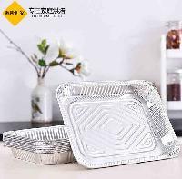 AC3230 一次性方形铝箔餐盒外卖打包容器 锡纸烤盒餐饮酒店用品
