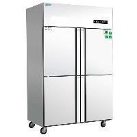 睿弘四门冰箱 单温冷冻柜 不锈钢四门冷柜