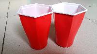 一次性六角双色塑料杯