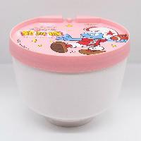 蓝精灵大碗塑料罐 紫荆花糖果罐厂家