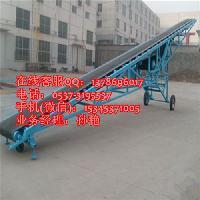 玉米胶带式圆管输送机 槽型爬坡上料机