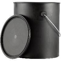 3.5L塑料罐,艺术涂料包装桶,艺术漆黑罐