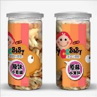 台湾进口母婴辅食饼干 我D小蔡蔡 原味小鱼饼干 儿童饼干批发代理