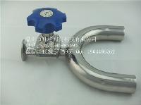 卫生级不锈钢U三通焊接隔膜阀