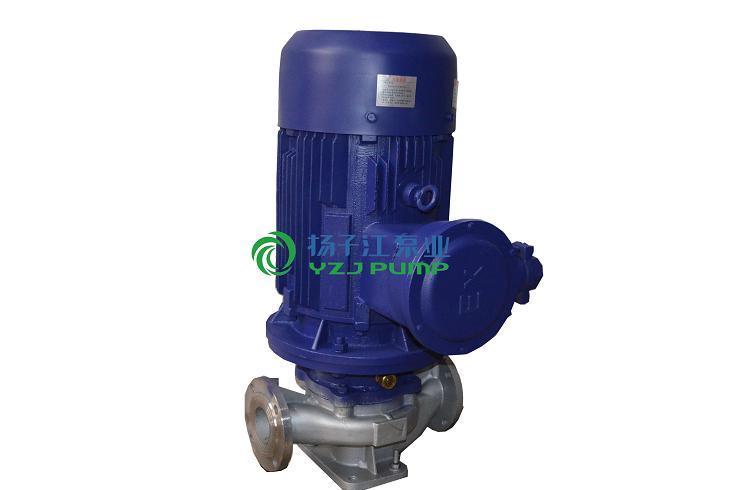 管道泵厂家:GRG型不锈钢防爆耐高温管道离心泵