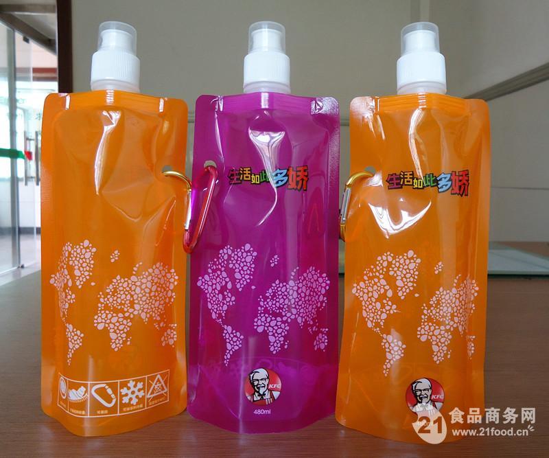 480ML自立折叠水袋