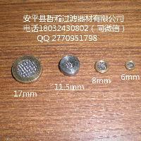 不锈钢液压自减压阀滤片 铜包边圆形过滤网片