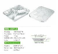 厂家直销 三格快餐盒 环保一次性分格铝箔饭盒